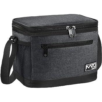 Kato lunchtasche isoliert/klein 8l Auslaufsicherer Lebensmittelbeutel mit zwei F/ächern K/ühler Bento Lunchbox Picknick-Tasche f/ür Frauen M/änner K/ühltasche zum Mittagessen
