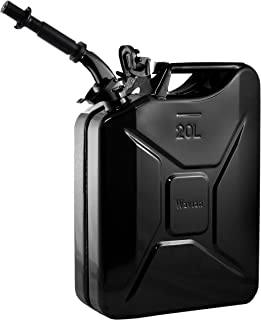 Wavian USA JC0020BVS Authentic NATO Jerry Fuel Can and Spout System Black (20 Litre)
