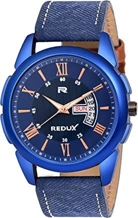 Redux Analogue Blue Dial Day and Date Men's Watch RWS0230S