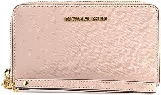 baec33f6247d MICHAEL KORS Jet Set Travel Large Flat Multifunction Wallet in Soft Pink