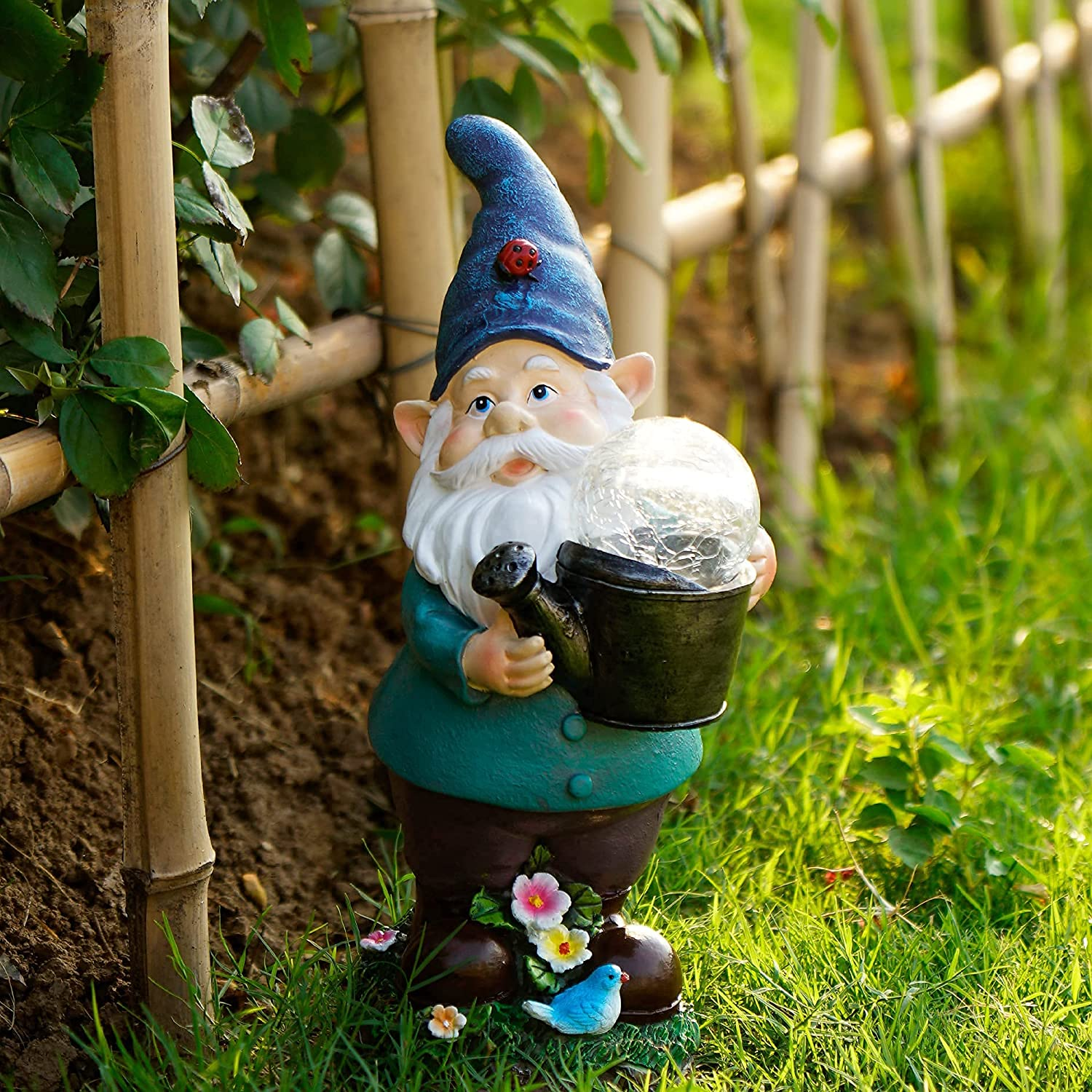 Daily bargain sale Iweshal Garden Gnome Statues In a popularity Solar Outdoor Gnomes