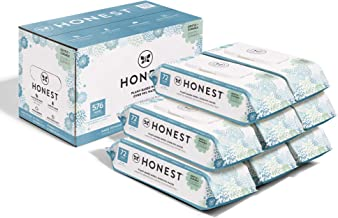 The Honest Company Baby Wipes - 576 Count | Classic | Over 99 Percent Water | Pure & Gentle | Plant-Based | Fragrance Free | Extra Thick & Durable Wet Wipes