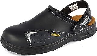 EuroRoutier Basic Black, Sabots de chaussures de sécurité en cuir certifié CE EN ISO SB+A+E+FO+Sra