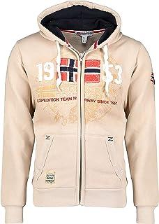 GEO NORWAY Gapigal Men - Felpa da Uomo con Cappuccio e Tasca a Canguro, con Logo, Stile Urbano – Maglione Confortevole Inv...