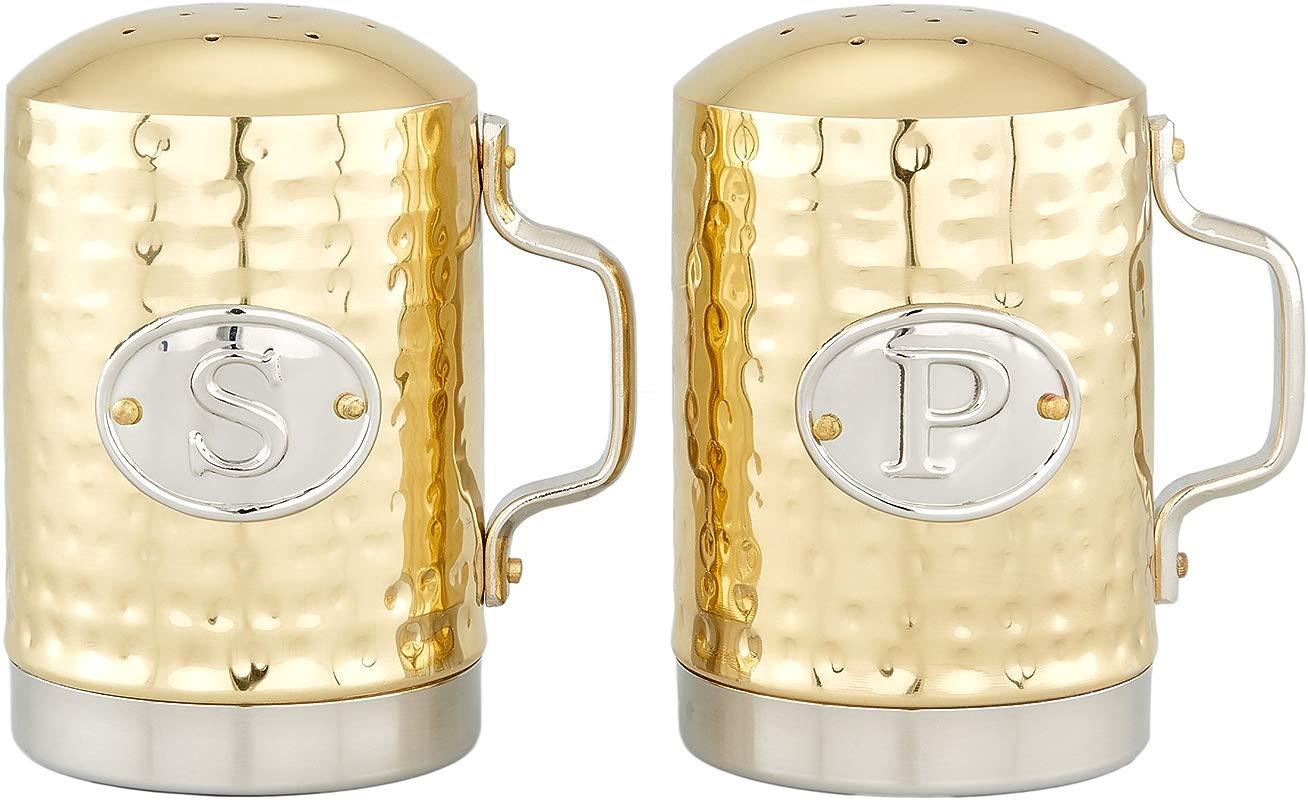 Old Dutch 833CC Salt Pepper Set 2 Pc Gold