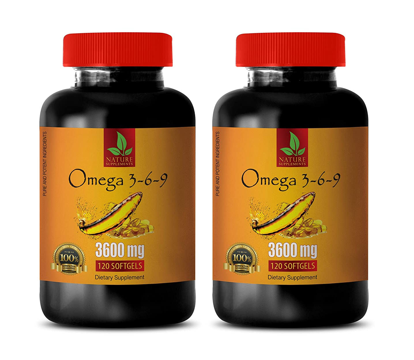 Immunity Booster for Women - Omega 3 6 9 Complex 3600 MG - Omega 3 and 6 Supplements - 2 Bottles 240 Softgels