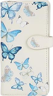 SHAGWEAR ® Portafoglio Donna Pelle Sintetica Portamonete, Chiusura Con Cerniera Portafogli - Farfalle/Butterflies Beige