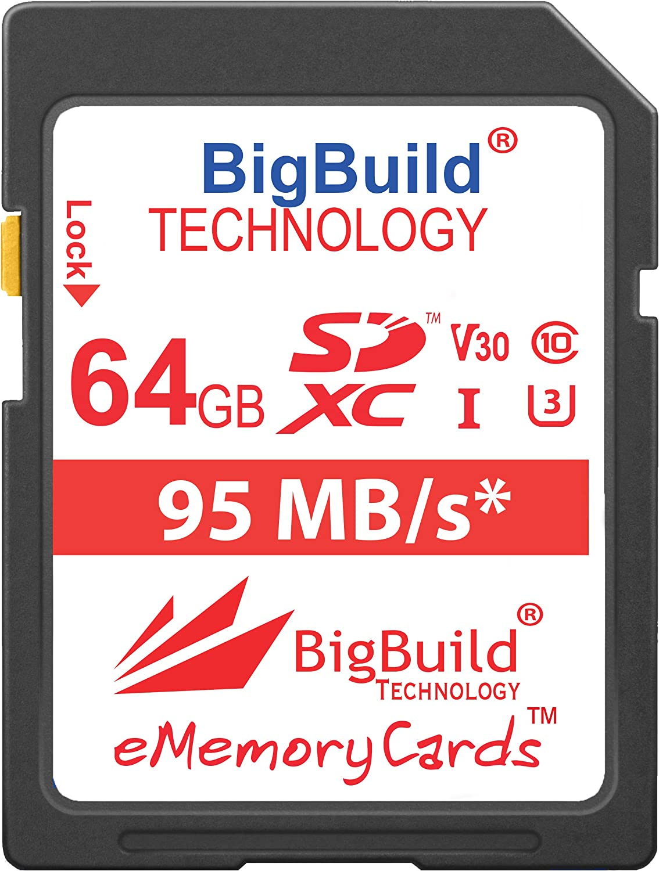 Bigbuild Technology 64gb Uhs I U3 95mb S Speicherkarte Für Canon Powershot Sx420 Is Sx430 Is