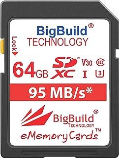 BigBuild Technology UHS-I U3 - Tarjeta de Memoria para cámara Sony Cyber Shot DSC H300 HX350 ILCE 7S RX10 Sony ILCE-5100 ILCE-7KB.CE ILCE-7M2B ILCE-7S/BQ Alpha 7S ILCE-5100LB.CEC