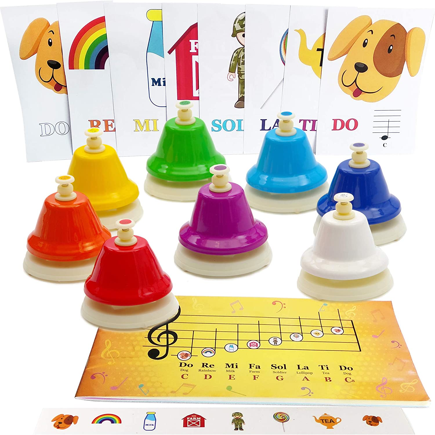 8-note Color Desk Bell Set - Song Mu Limited time for free shipping Sheet Cash special price Music with Book Easy