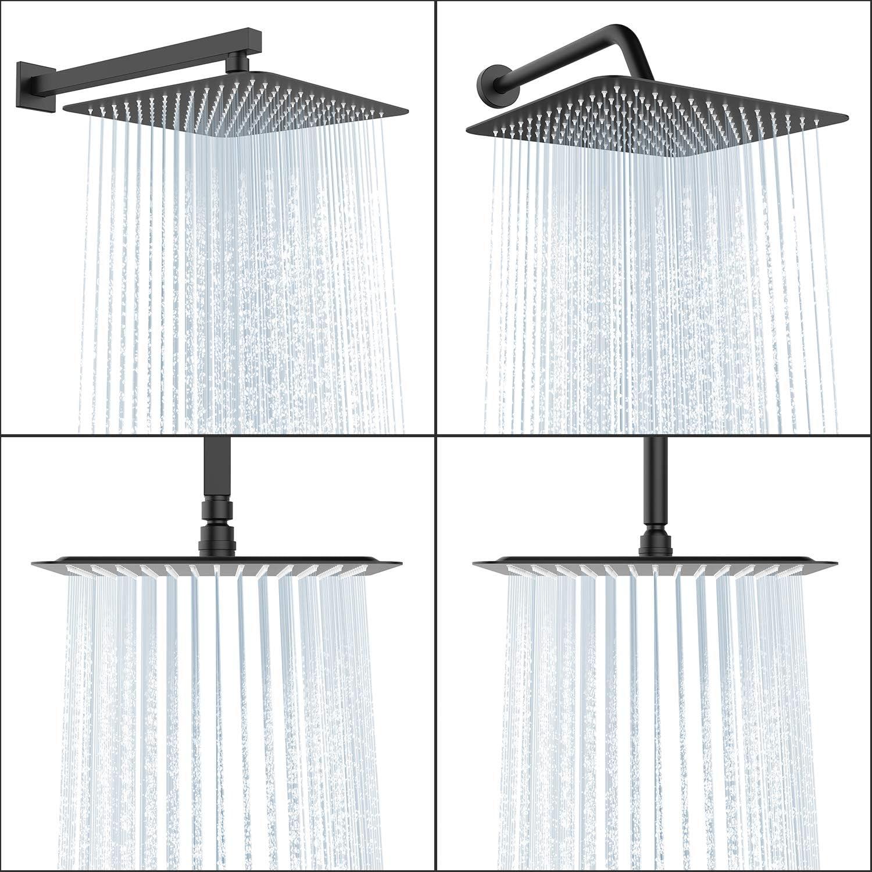 alcachofa de ducha con ducha antical Ducha de lluvia de acero inoxidable Rainsworth Alcachofa Ducha cuadrado Wasserfal cabezal de ducha