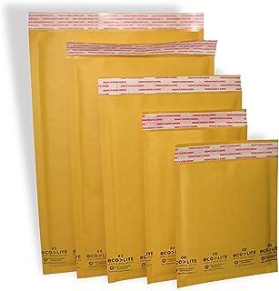 "Polyair Eco-lite #7 ELSS725 Golden Kraft Bubble Mailer, 14.25"" x 20"" (Pack of 25)"