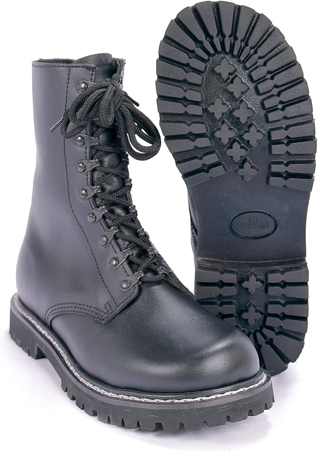 Mil-tec Lined German Pilots Style Boots with Side Zip, Size- UK Size 7 (Euro 41), color- Black