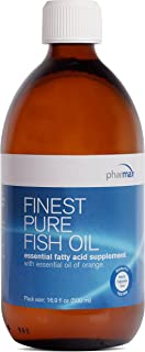 Pharmax - Finest Pure Fish Oil with Essential Oil of Orange - Supports Bone, Brain, and Cardiovascular Health - 16.9 fl. oz.