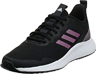 Adidas Fluidstreet Mesh Textile Three Side Stripe Logo Tongue Lace-Up Sneakers for Women