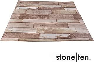 Faux Wood Wall Panels - Peel and Stick Foam Wood Paneling - 3D Wall Panels for Fake Wood Wall - 3D Wood Wallpaper - (Rustic Charm 10 Pack) Self Adhesive Wood Look Wall Panels