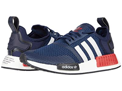 adidas Originals Kids NMD_R1 J (Big Kid) (Collegiate Navy/Footwear White/Scarlet) Kids Shoes