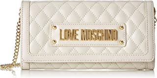 Love Moschino Portafogli Quilted Nappa Pu, Donna, Colore: Rosso, 3x10x20 cm (B x H x T)