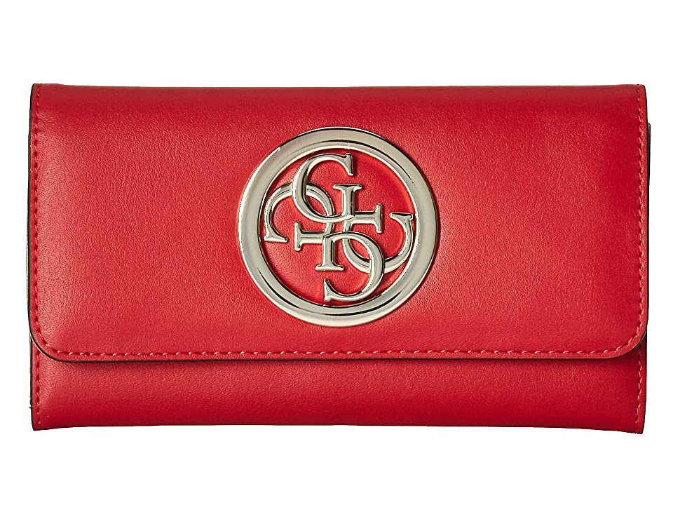 GUESS Rodeo SLG Slim Clutch (Red) Wallet Handbags