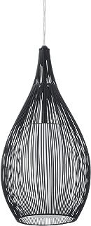 Eglo RAZONI Interior E27 60W Negro, Blanco iluminación de techo - Lámpara (Dormitorio, Cocina, Salón, Negro, Blanco, IP20, Cepillado, Alrededor, Vidrio, Acero)