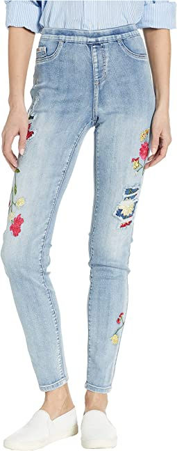 Statement Denim Pull-On Slim Leg in True Blue
