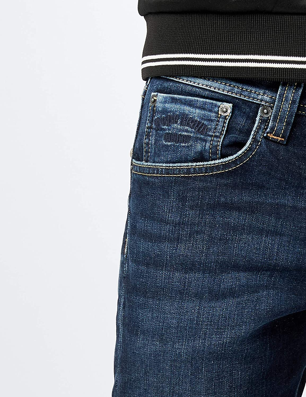 Pepe Jeans Cane, Jeans Homme Bleu (11oz Streaky Stretch Dk)