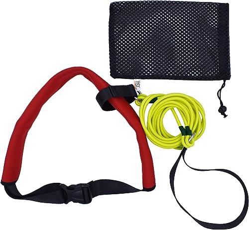 YYST Swim Bungee Training Belt Swim Resistance Belt Swim Exerciser Belt Swim Tether (One Waist Belt, One Bungee Cord,...