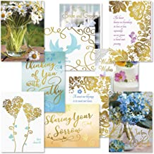 All Occasion Deluxe Foil Greeting Cards with Seals Value Pack – Set of 20 (10 Designs), Large 5 x 7 inches, Sympathy, Get Well, Wedding and Anniversary Cards with Sentiments Inside