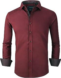 Mens Dress Shirts Wrinkle Free Slim Fit Bamboo Men Shirt