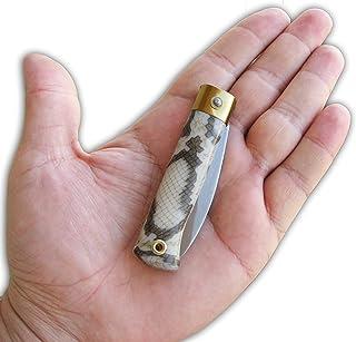 Glittering Bazaar Snake Design Smallest Knife Mini Pocket Folding Folder Micro Key Ring, Yatagan, Plastic Handle,Stainless...