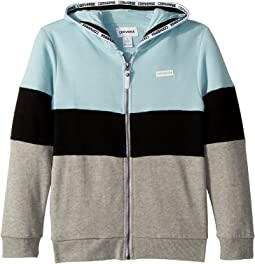 Converse Kids Court Color Blocked Full Zip Hoodie (Big Kids)