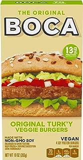 Boca Original Turk'y Vegan Non GMO Frozen Veggie Burger (4 Count)
