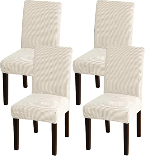 Turquoize Dining Room Chair Covers Stretch Chair Covers for Dining Room Set of 4 Dining Chair Slipcover Parsons Kitch...