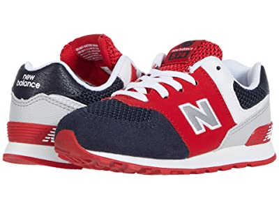 New Balance Kids 574 (Infant/Toddler) (Eclipse/Team Red) Boy