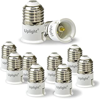 Uplight Adaptador E27 a B22,Conversor Bombilla E27 a B22,E27Socket Convertidor,0-250V,Potencia Máxima 200W,Paquete de 10.
