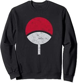 Naruto Sasuke Uchiha Symbol Distressed Sweatshirt