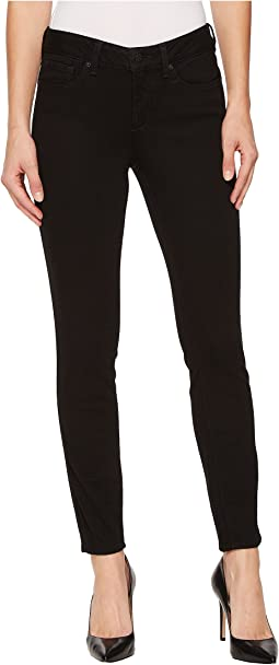 NYDJ Dylan Skinny Ankle Jeans in Luxury Touch Denim in Black