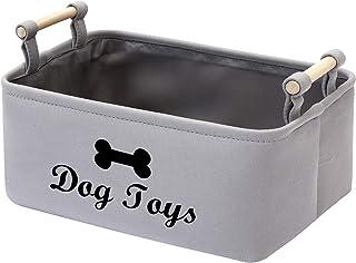 MOREZI Boîte de rangement pour jouets pour animaux de compagnie en toil,Boîte jouet chien,pour ranger des jouets et access...