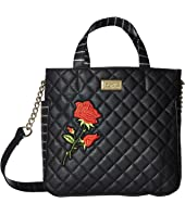 Luv Betsey - Alexi PVC Large Triple Compartment Satchel