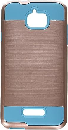 Asmyna Cell teléfono Celular para Coolpad Catalyst–Rose Gold/Tropical Teal Cepillado