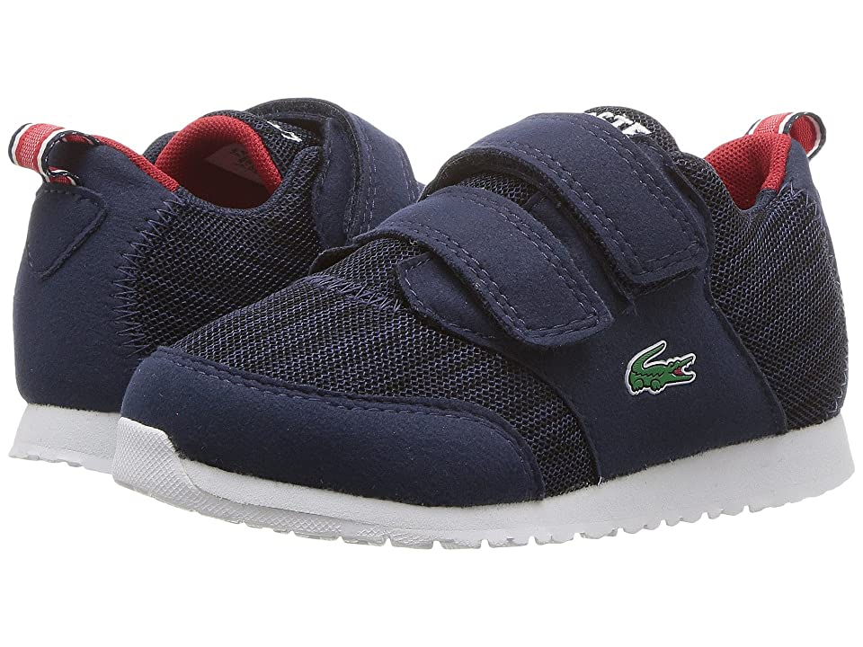 Lacoste Kids L.ight (Toddler/Little Kid) (Navy/Red) Kids Shoes