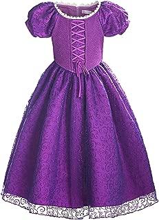 ReliBeauty Girls Princess Tangled Rapunzel Lace up Dress Costume