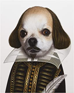 Empire Art Direct Pets Rock Shakespeare Graphic Wrapped Dog Canvas Wall Art, 20