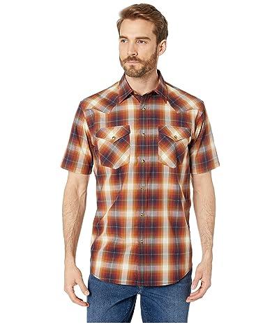 Pendleton Short Sleeve Frontier Shirt (Rust/Blue Plaid) Men