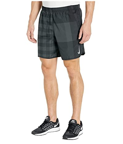Nike 7 Challenger Shorts Brief Windrunner Pull-On (Dark Smoke Grey/Black/Reflective Silver) Men