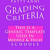 Grading Criteria Syllabus Outline + Rubric ~ Generic EDITABLE Template for Middle & High Schools