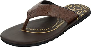 FORESTHILL Men's Leather Flip-Flops