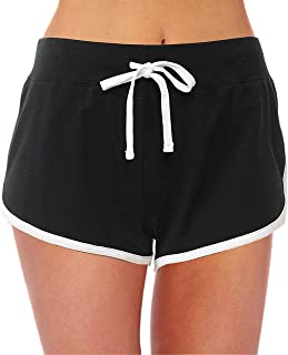 Women's Active French Terry Dolphin Hem Knit Pull-On Shorts