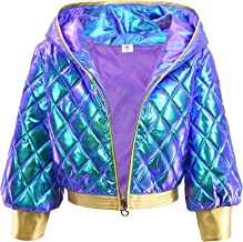DAZCOS K/DA Sparkle High Waisted Jacket/Hat/Waist Belt for Women Copslay