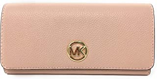 784dcdf9504a Michael Kors Signature Fulton Flap Continental Leather Carryall Wallet